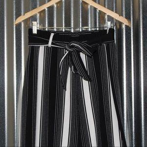 Pants - long stripped loose dress pants